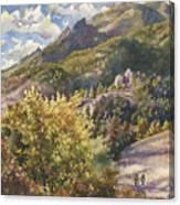 Morning Walk At Mount Sanitas Canvas Print