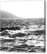 Morning Waves - Bw Diffused 04 Canvas Print