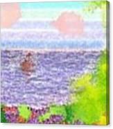 Morning.boat Canvas Print