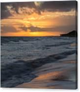 Mornings On The Beach  Canvas Print
