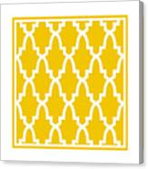 Moroccan Arch With Border In Mustard Canvas Print