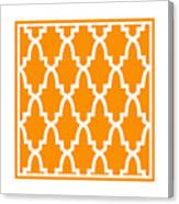Moroccan Arch With Border In Tangerine Canvas Print