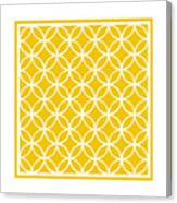 Moroccan Endless Circles I With Border In Mustard Canvas Print