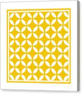Moroccan Endless Circles II With Border In Mustard Canvas Print
