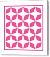 Moroccan Inlay With Border In French Pink Canvas Print