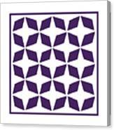 Moroccan Inlay With Border In Purple Canvas Print