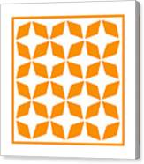 Moroccan Inlay With Border In Tangerine Canvas Print