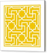 Moroccan Key With Border In Mustard Canvas Print
