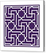 Moroccan Key With Border In Purple Canvas Print