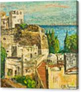 Morocco Palette Knife In Oil By Victor Herman Canvas Print