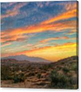Morongo Valley Sunset Canvas Print