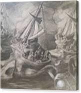 Morphological Echo At Sea Canvas Print