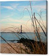 Morris Island Lighthouse In Charleston Sc Canvas Print