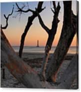 Morris Island Lighthouse Sunrise 2 Canvas Print