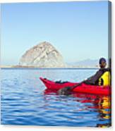 Morro Bay Kayaker Canvas Print