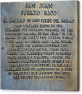 Morro Fortress - Puerto Rico Canvas Print