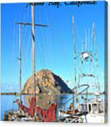 Morro Rock Morro Bay California Canvas Print