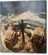 Mortar Crew In Action Canvas Print
