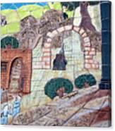 Mosaic Art At Petra Canvas Print