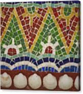 Mosaic Fountain Pattern Detail 4 Canvas Print