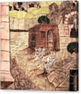Mosaic Images At Petra Canvas Print