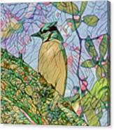 Mosaic Of Blue Jay Canvas Print
