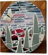 Mosaic Sailboats Canvas Print
