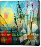Mosaic Sea Oats Canvas Print