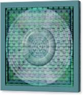 Mosaicea In Blue Canvas Print