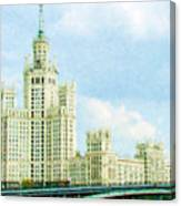Moscow High-rise Building Canvas Print