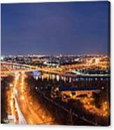 Moscow Night Panorama Canvas Print