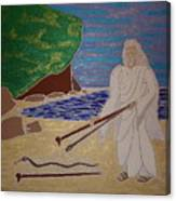 Moses And Staff Canvas Print