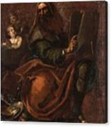 Moses Holding The Tablets Of Law Canvas Print