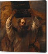 Moses With The Ten Commandments Canvas Print