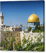 Mosques In Old Town Of Jerusalem Israel Canvas Print