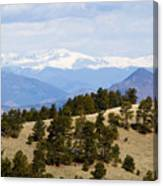 Mosquito Range Mountains From Bald Mountain Colorado Canvas Print