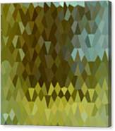 Moss Green Abstract Low Polygon Background Canvas Print