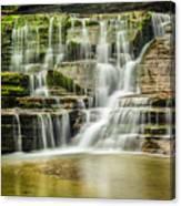 Mossy Flowing Waterfalls In Enfield Glen Canvas Print