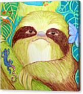 Mossy Sloth Canvas Print
