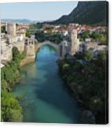 Mostar, Bosnia And Herzegovina.  Stari Most.  The Old Bridge. Canvas Print