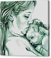 Mother And Child II Canvas Print