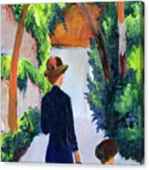 Mother And Child In The Park Canvas Print