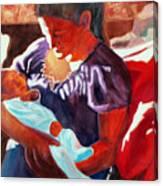 Mother And Newborn Child Canvas Print