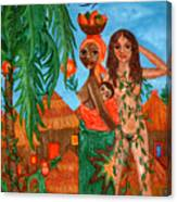 Mother Black Mother White Canvas Print