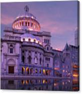 Mother Church And Reflection Canvas Print