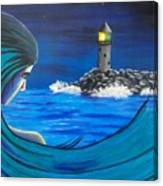 In The Glow Of The Lighthouse  Canvas Print
