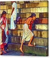 Mother Ganges - Paint Canvas Print