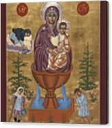 Mother Of God Life Giving Spring With Mother Macaria Of Russia And Blessed Margaret Of Castello 179 Canvas Print