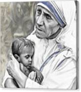 Mother Teresa. God Bless This Child Canvas Print