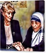 Mother Teresa In Calcutta Canvas Print